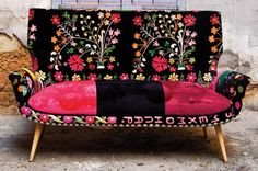 Bokja is a Lebanese furniture company, set up in 2000 by Hoda Baroudi and Maria Hibri. Hoda always had a passion for ancient tapestries and textiles, and Maria for antique furniture.