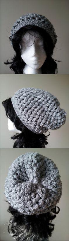 Puff stitch hat - Pattern on the blog