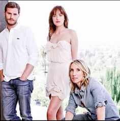 Love the pure romantic look that this picture brings us. Jamie, Dakota, and Sam look breath taking!! 50 Shades of Christian and Ana