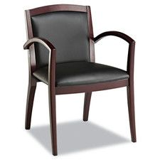 Leather Reception Lounge Guest Chair
