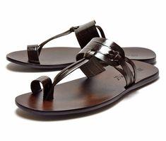 Toe Ring Sandals, Slipper Sandals, Flip Flop Sandals, Leather Slippers, Leather Sandals, Comfortable Mens Dress Shoes, Nigerian Men Fashion, Luxury Shoes, Leather Men