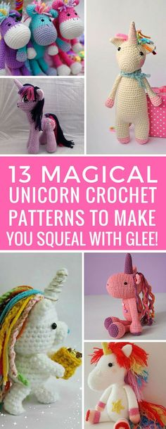 LOVE these unicorn crochet patterns! I'm adding a load of them to my list! Thanks for sharing!