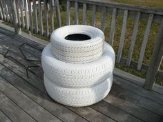 I moved to South Carolina 5 years ago from Pennsylvania. I can't say I miss the snow, but I do miss snowmen. I started with 2 matching car tires. Painted th… Cute Snowman, Snowman Crafts, Snowmen, Christmas Crafts, Christmas Yard, Reuse Old Tires, Reuse Recycle, Recycling, Car Part Furniture