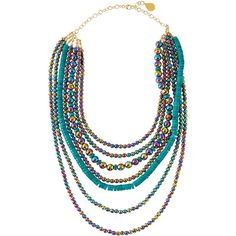 Devon Leigh 14k Multi-Strand Beaded Necklace 84rxjrE8rM