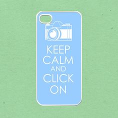 iPhone 5 case, iPhone Case - keep calm and click on For iPhone 5