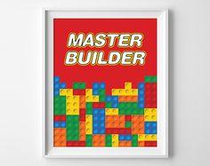 Lego Wall Art legos- nursery- wooden letters- home decor- boys room- wall art