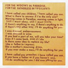 For the Widows in Paradise, for the Fatherless in Ypsilanti | Sufjan Stevens