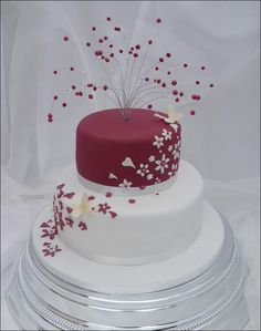cake designs for 2 tier wedding cakes roses - - Yahoo Image Search Results Wedding Cake Two Tier, Diamond Wedding Cakes, Butterfly Wedding Cake, Small Wedding Cakes, Wedding Cakes With Cupcakes, Beautiful Wedding Cakes, Wedding Cake Designs, Wedding Cake Toppers, Cupcake Cakes
