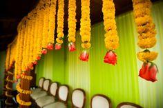 Mehendi Wedding Decor - Genda Phool Mehendi Decor #wedmegood #mehendi #decor