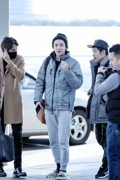 150102- EXO Oh Sehun; Incheon Airport to Heathrow Airport #exok #fashion #style
