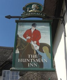 https://flic.kr/p/7UDcX8 | Ide pub sign Devon | Outside the Huntsman Inn in the village of Ide two miles from Exeter