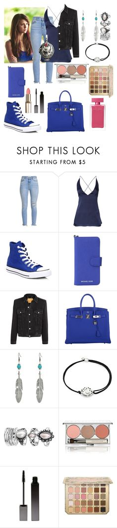 """""""Elena Gilbert"""" by puccipucci ❤ liked on Polyvore featuring Dion Lee, Converse, MICHAEL Michael Kors, Balenciaga, Hermès, Kender West, Alex and Ani, Chantecaille, Serge Lutens and Narciso Rodriguez"""