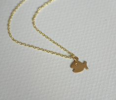 Brass Bubble Fish Necklace  by Jewel of a Girl