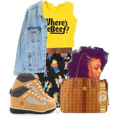 A fashion look from February 2015 featuring sleeveless shirts, denim jacket and timberland shoes. Browse and shop related looks.