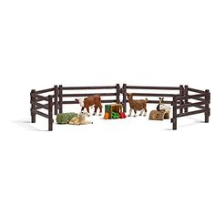 DIY and crafts DIY and crafts. Children's Zoo Playset Toy Figurines - Macanoco and Co. Schleich Horses Stable, Horse Stables, Breyer Horses, Figurine Schleich, Breeds Of Cows, Dwarf Goats, Toy Barn, Barnyard Animals, Farm Toys