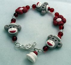 Sock Monkey Bracelet