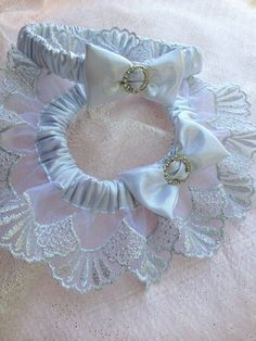 "The "" Estrella "" Silver Garter Set. The Metallics Collection. Free shipping worldwide. Wedding Garters of distinction. https://www.etsy.com/listing/200820044/the-estrella-silver-garter-set-metallics?ref=shop_home_active_14"