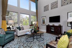 Love the high ceilings in this Living room in The Avonleigh model in Austin, Texas.