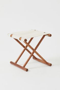 Folding wooden stool - Brown/Mango wood - Home All Pallet Bar Stools, Tractor Seat Bar Stools, Rustic Bar Stools, White Bar Stools, Modern Bar Stools, Pallet Stool, Stool Color Chart, Stool Chart, Folding Wooden Stool
