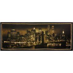 New York Skyline Canvas Wall Art, Multicolor