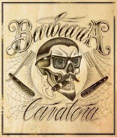 Barber shop flyer barber stuff pinterest mon salon - Tatouage cavalera ...