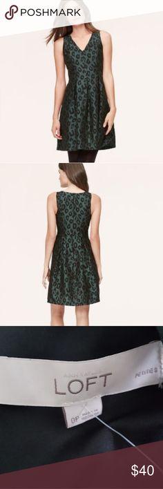 79b0d22f16 Ann Taylor loft leopard green dress size 0 New with out tags Ann Taylor Loft  Leopard