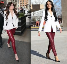 """Maytedoll: """"Get the same look for less"""" Kylie Jenner White blazer and leather pants"""