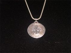 PURE SILVER TREE OF LIFE PENDANT - SOLD #jewellery #pure silver #silver #tree of life #pendant #handmade #handcrafted