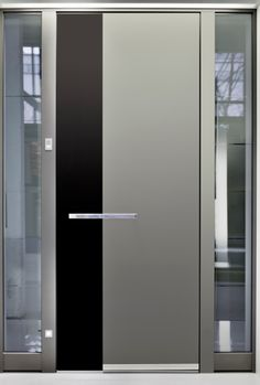 Need inspiration for a new front door? Check out our explanation of the different types of front doors plus gallery of 58 different kinds. Modern Entry Door, Contemporary Front Doors, Decorative Metal Screen, External Front Doors, Welcome Signs Front Door, Flat Roof House, Bedroom False Ceiling Design, Flush Doors, Classic Doors
