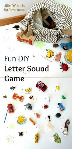 Fun DIY Letter Sound Game |  Little Worlds Big Adventures