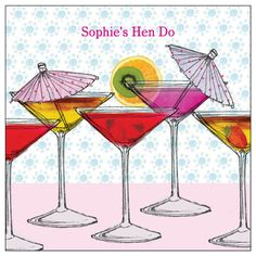 Fruity Cocktails - personalised printed party invitations