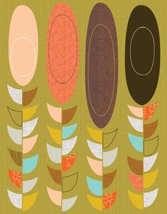 Giclee Print item No P201013 Petals and pods by JennSki on Etsy, $35.00