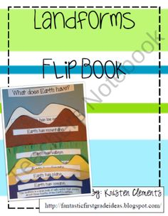 Landforms Flip Book from First Grade Fun on TeachersNotebook.com (13 pages)  - Landforms Flip Book
