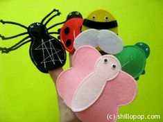 insects 9 These moveable bugs are finger puppets. Cute Quiet book on insects.