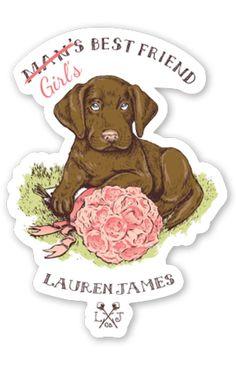 Girl's Best Friend Sticker – Lauren James Co.