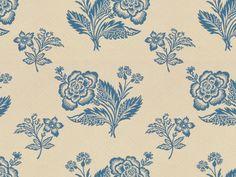 Brunschwig & Fils SCONSET QUILTED FLORAL LIGHT BLUE AND WHITE BR-89022.07 - Brunschwig & Fils - Bethpage, NY