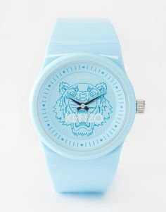 Kenzo Blue Tiger Head Watch