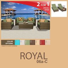 Royal 8 Piece Outdoor Wicker Patio Furniture Package ROYAL06aC >>> Details can be found by clicking on the image.(This is an Amazon affiliate link)