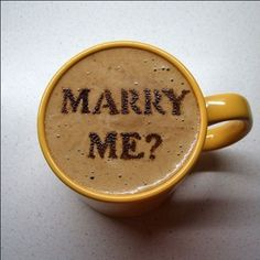 Unique proposal idea, it's a latte or cappuccino con love!and since Josh is a barista ; Coffee Latte Art, I Love Coffee, My Coffee, Morning Coffee, Coffee Cups, Coffee Shop, Real Coffee, Coffee Beans, Coffee Gifts