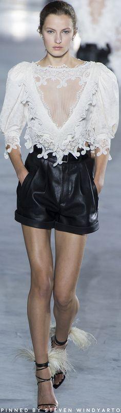 Saint Laurent Spring 2018 Fashion Show #spring2018 #ss18 #saintlaurent #womenswear