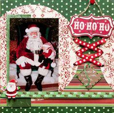 christmas layouts for scrapbooks pinterest   Christmas layout