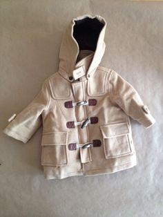Janie and Jack Beige Wool Toggle Jacket Pea Coat Size 6-12 Months  #JanieandJack #Coat #Everyday