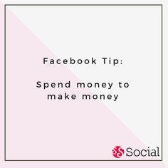 """#Facebook Tip: Ever heard the term, """"You have to spend money to make money?"""" If you're using Facebook to advertise your business, spending a little money on a Facebook ad is a good way to get your product out to a wider audience."""