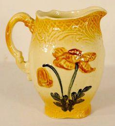 Unmarked Roseville Poppy #11 pottery pitcher