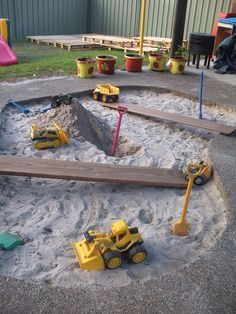 Sand area outdoor play preschool
