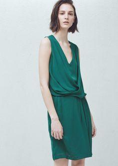 Draped wrap dress - Dresses for Woman | MANGO