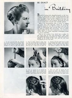 Vintage Hairstyles Beauty is a thing of the past: Be Exact in Building Pin Curls Vintage Waves Hair, Vintage Curls, Pin Curls, Soft Curls, 1940s Hairstyles, Curled Hairstyles, Retro Updo, Wet Set, Overnight Curls