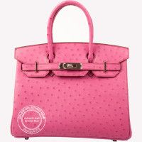 30cm Fuschia Birkin in Ostrich with Palladium Hardware. Pretty in pink! For more info: whatsapp +44 7887 409934 or https://lilacblue.com/product-category/hermes-birkin-bags/exotic-skin-birkins/ #hermes #Fuschia #ostrich #birkin #30cm #hermeslondon #palladium #lilacbluelondon