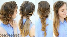 4 Easy Summer Hairstyle Ideas Summer Hairstyles with regard to Hair Style Summer - Fashion Style Ideas Cool Easy Hairstyles, Dance Hairstyles, Cute Girls Hairstyles, Braided Hairstyles Tutorials, Cool Haircuts, Diy Hairstyles, Hairstyle Ideas, Hair Tutorials, Layered Haircuts