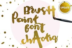 Chaotiq Modern Paint Brush Font by mycandythemes on @creativemarket